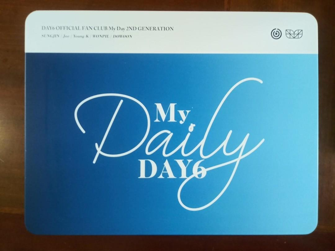 DAY 6 OFFICIAL FANCLUB KIT [MY DAY] 2ND GENERATION
