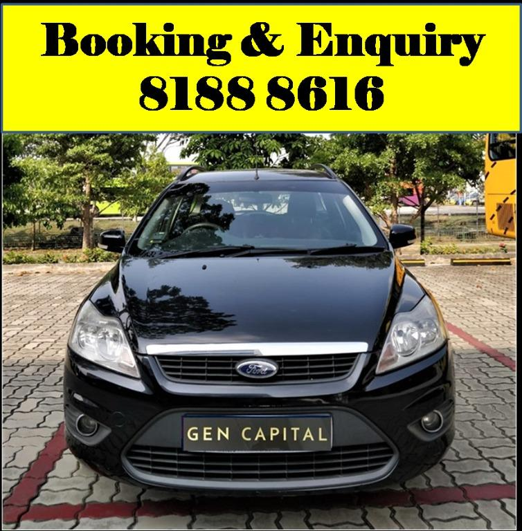 Ford Focus HAPPY FRIDAY!!! JUST IN with the most Fuel Eficient & Spacious car. Cheapest rental in town with just $500 Deposit driveoff immediately. Whatsapp 8188 8616 now to reserve!