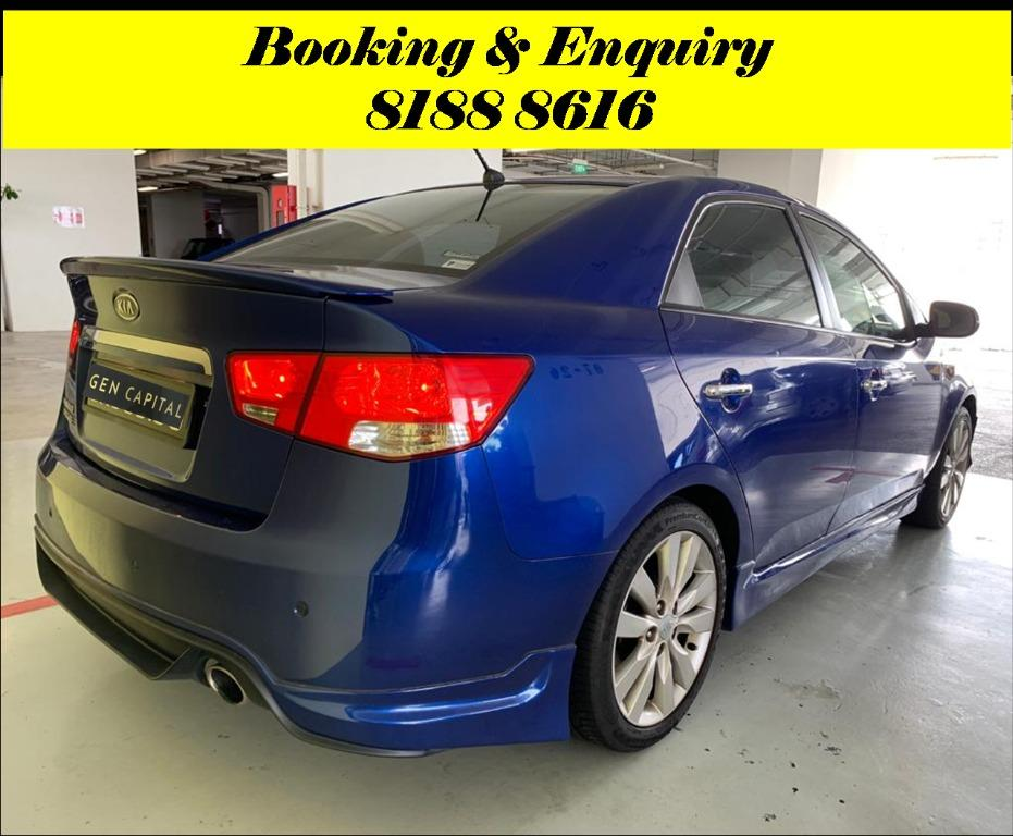 Kia Cerato HAPPY FRIDAY!!! JUST IN with the most Fuel Eficient & Spacious car. Cheapest rental in town with just $500 Deposit driveoff immediately. Whatsapp 8188 8616 now to reserve!