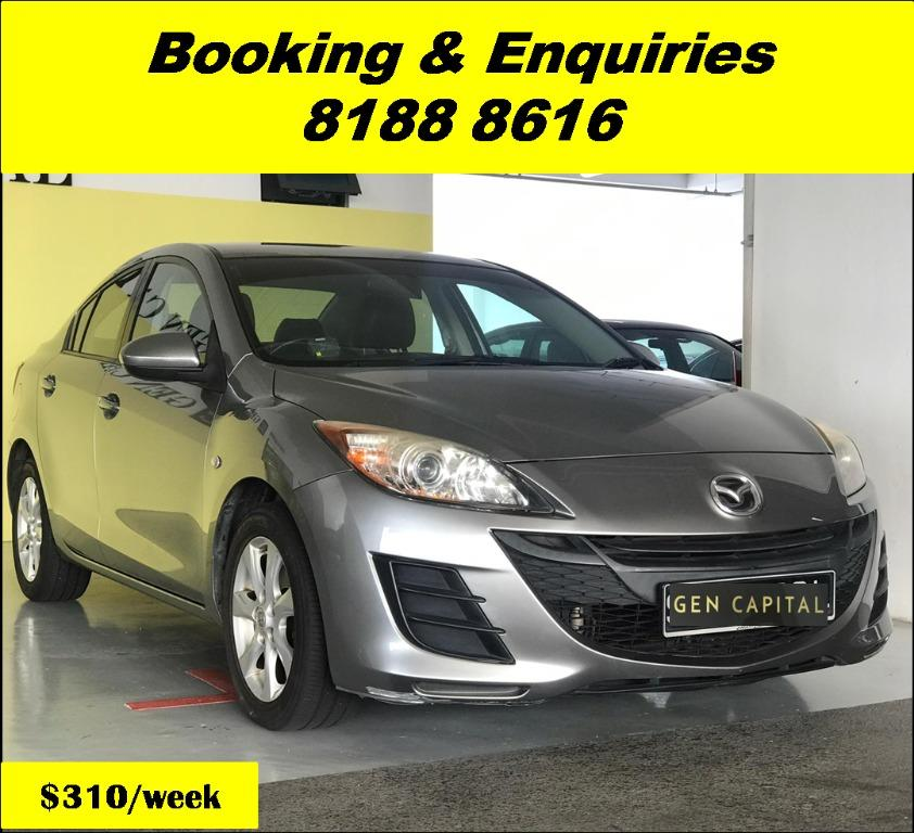 Mazda 3 HAPPY FRIDAY!!! JUST IN with the most Fuel Eficient & Spacious car. Cheapest rental in town with just $500 Deposit driveoff immediately. Whatsapp 8188 8616 now to reserve!