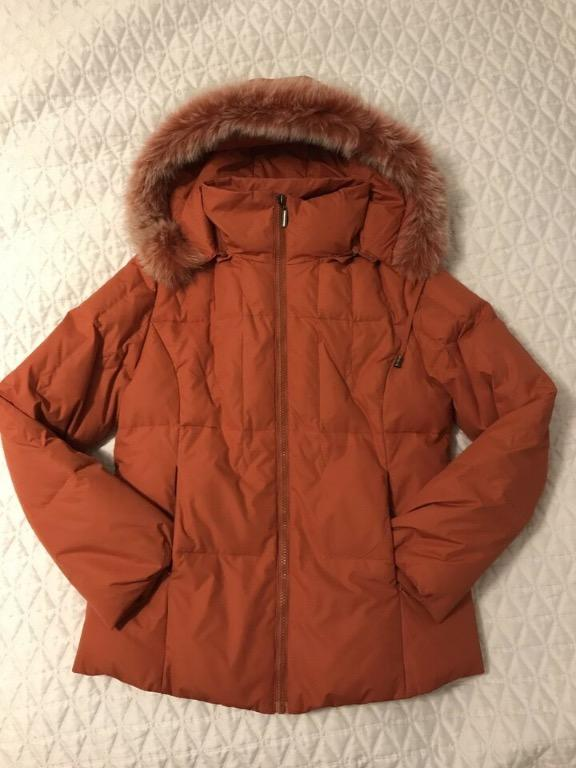 NEW Women's Down Fill Orange Winter Jacket - Small