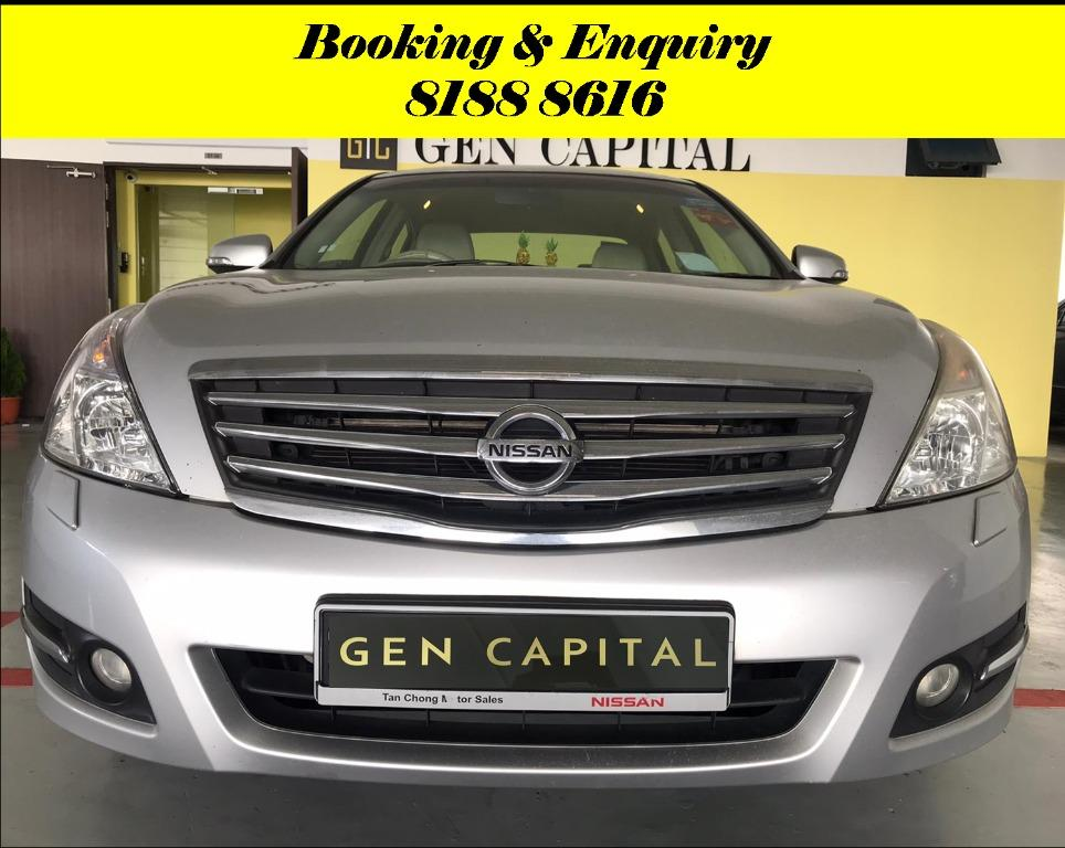 Nissan Teana Cheapest rental in town with just $500 Deposit driveoff immediately. Book a car in advance to enjoy attractive rates now!! Whatsapp 8188 8616.