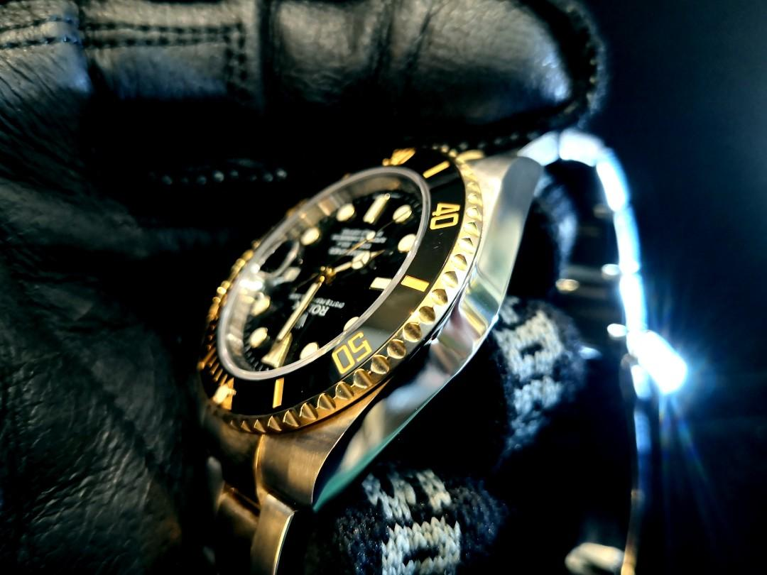 PREOWNED ROLEX SUBMARINER, 116613 LN, Rolesor, Yellow Gold and Oystersteel, 40mm, Alphanumeric Series @  Year 2013 Mens Watch