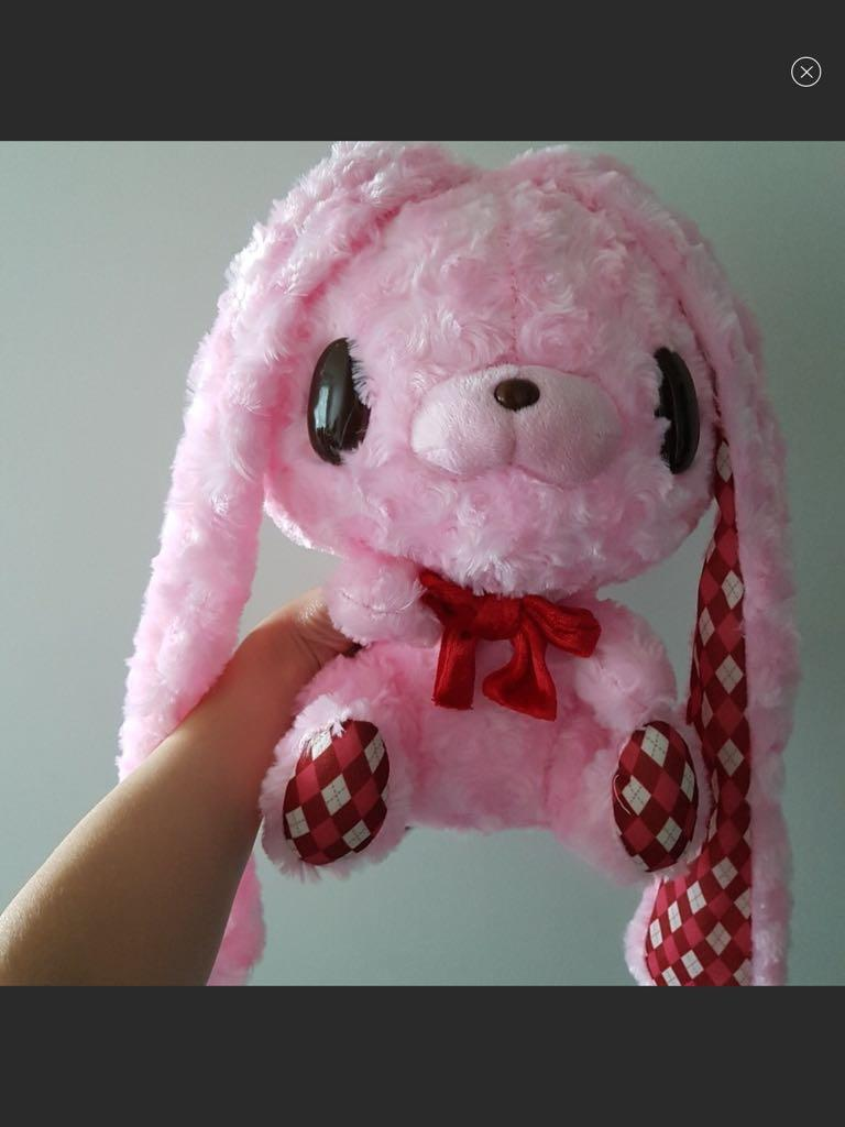 Taito Chakkusu GP Rabbit Bunny Plush Toy (Type-Argyle) - 28CM