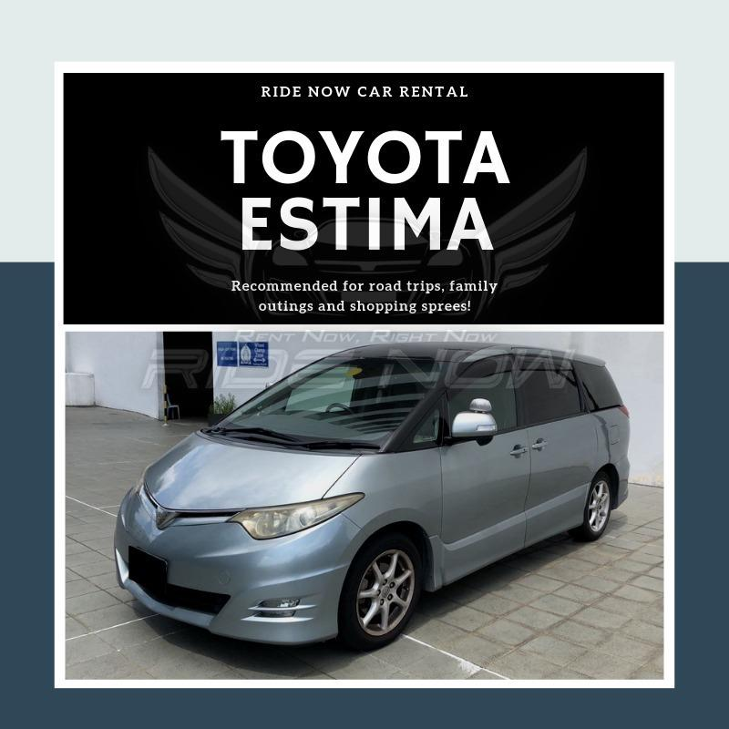 Toyota Estima 2.4A (7 Seater) Spacious Family Car. Available for Private Hire as well!