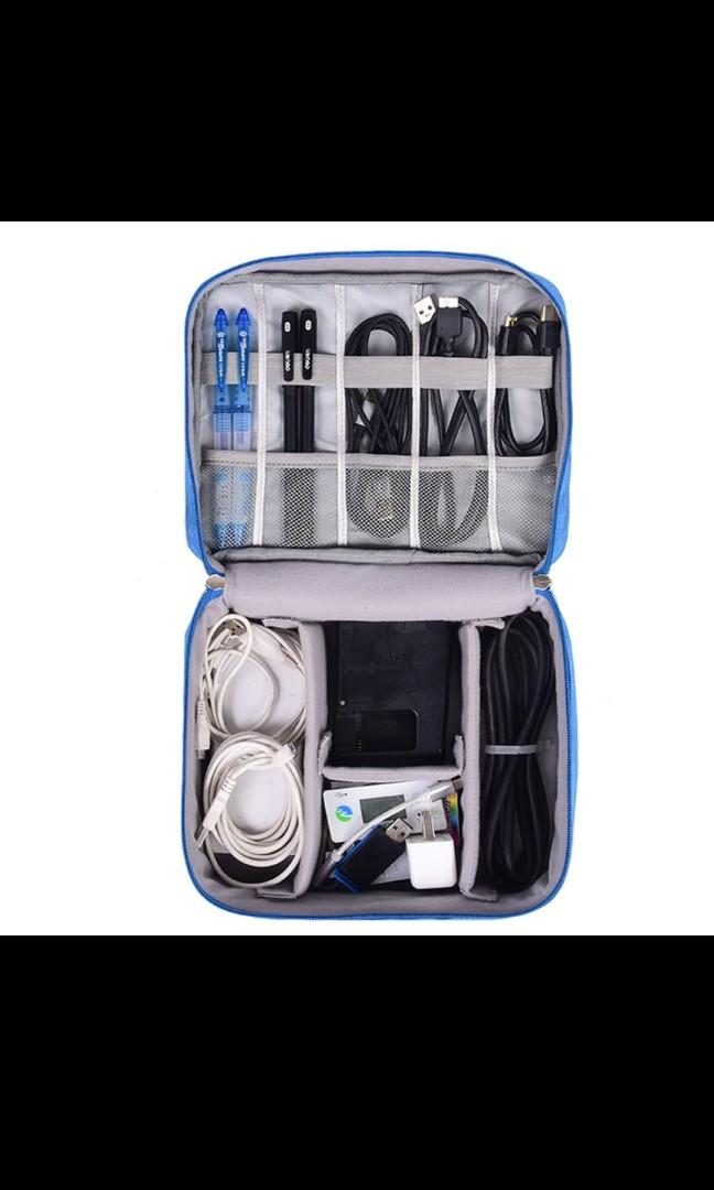 Travel Cosmetic Pouch USB Cable Storage Bag Digital Multipurpose Portable Organizer Earphone Case