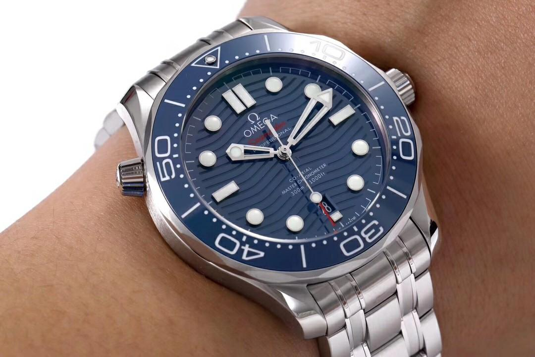 VS Factory Omega Seamaster Diver 300M 210.30.42.20.03.001 SS Blue Dial Swiss 8800