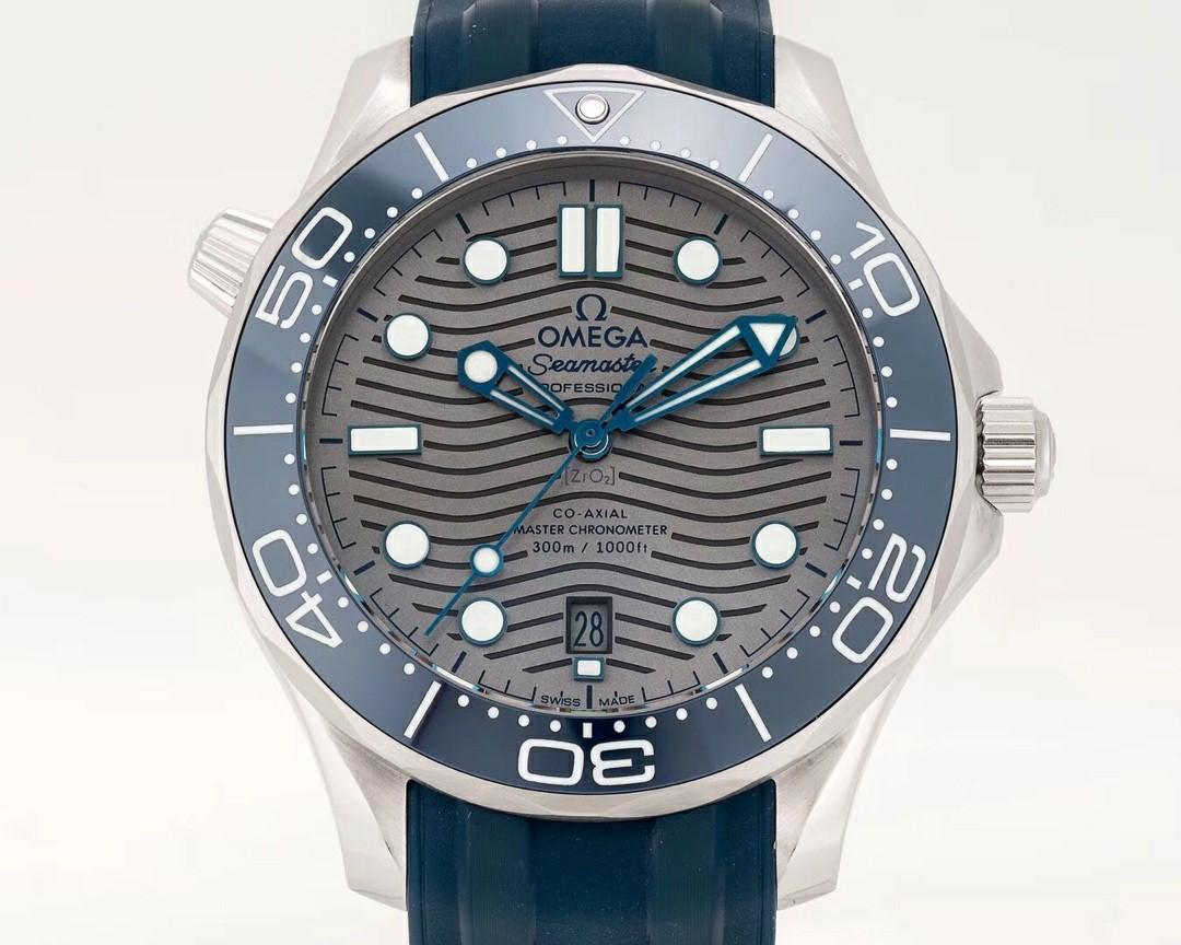 VS Factory Omega Seamaster Diver 300M 210.32.42.20.06.001 SS Grey Dial Swiss 8800