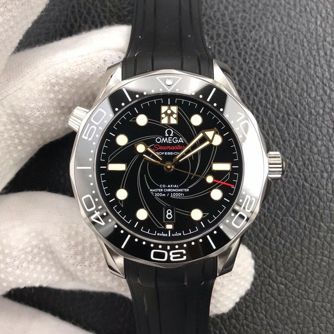 VS Factory Omega Seamaster Diver 300M James Bond 007 210.22.42.20.01.004 SS Black Dial Swiss 8800