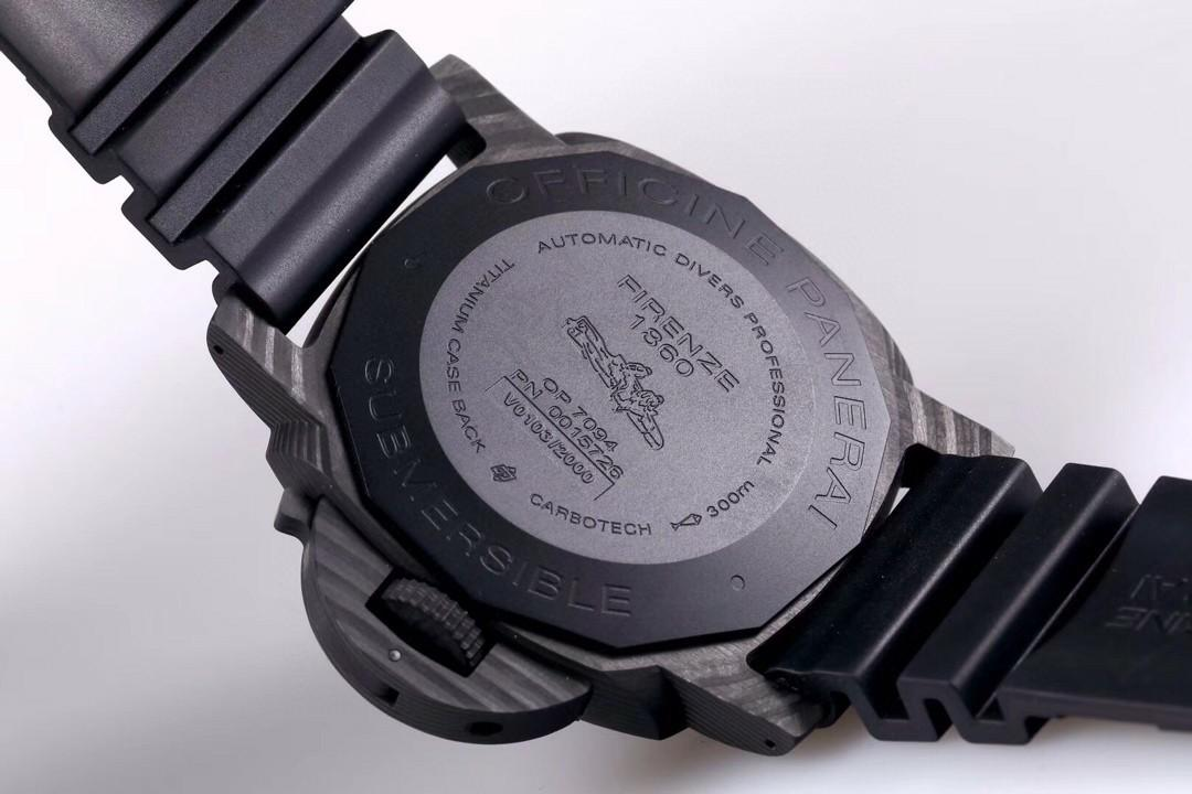 VS Factory Panerai Luminor Submersible PAM1616 Forged Carbon Black Dial Swiss P9010