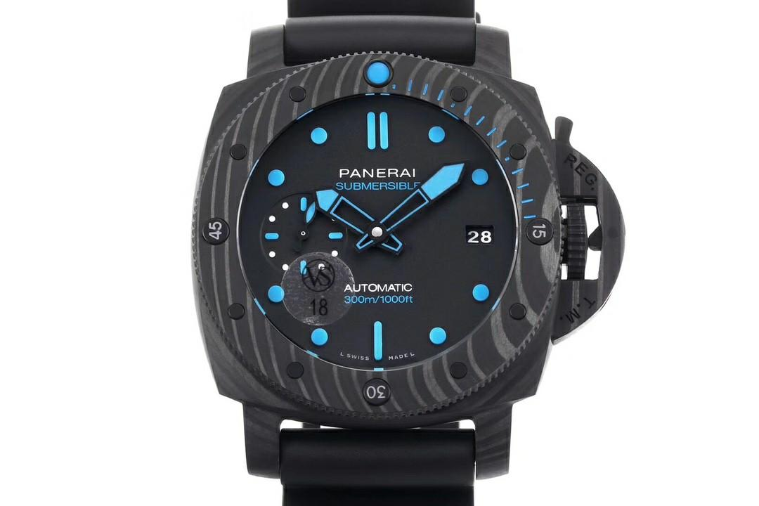 VS Factory Panerai Luminor Submersible PAM960 42mm Forged Carbon Black Dial Swiss P9010