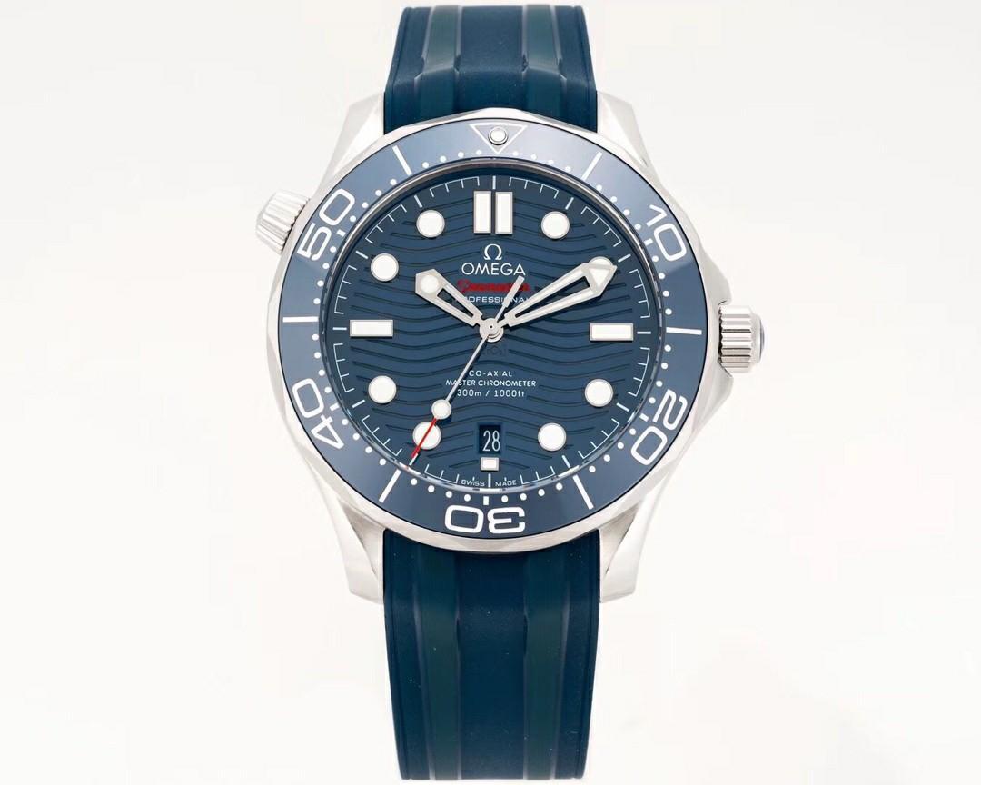 VS Factory V2 Omega Seamaster Diver 300M 210.32.42.20.03.001 SS Blue Dial Swiss 8800