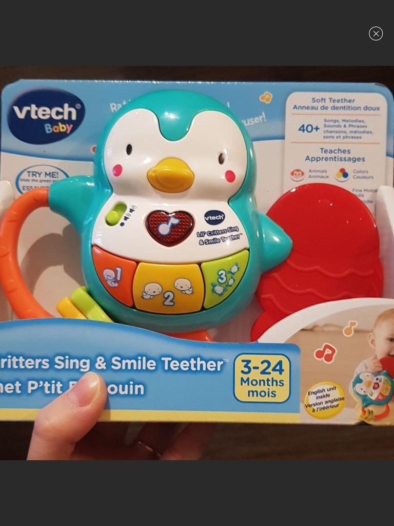 VTech® Lil' Critters Sing & Smile Teether - English baby toy