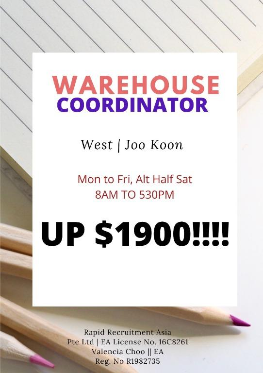Warehouse Coordinator (West Area, 1 year contract)