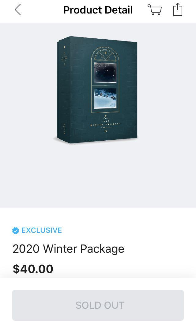[WTB/LF] READYSTOCK BTS WINTER PACKAGE 2020 SEALED/UNSEALED FULL SET