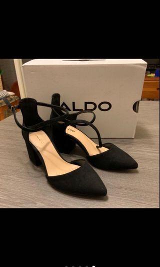 近全新 ALDO  尖頭高跟鞋 黑色 37號