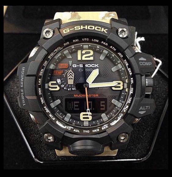 100% Authentic new sealed Casio G-Shock Mudmaster GWG-1000DC-1A Desert Camo Watch Band & Bezel Set