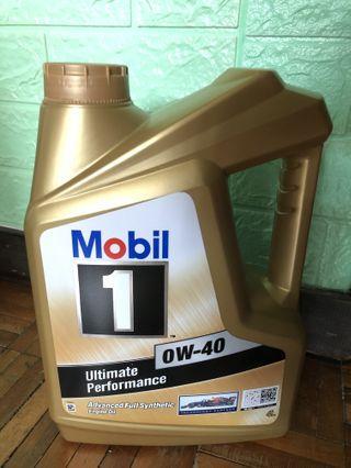 Mobil 1 0w40 4L 金裝 美孚1號 無比1號 全合成 偈油 Engine oil 新裝 有防偽標籤