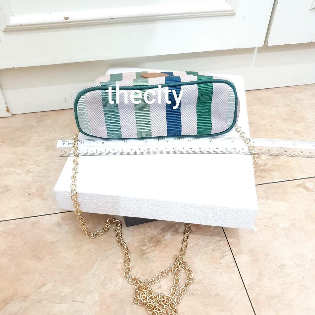 AUTHENTIC HERMES EVELYN H LOGO VANITY - RARE LIMITED EDITION DESIGN - WITH EXTRA ADD ON STRAP FOR CROSSBODY SLING