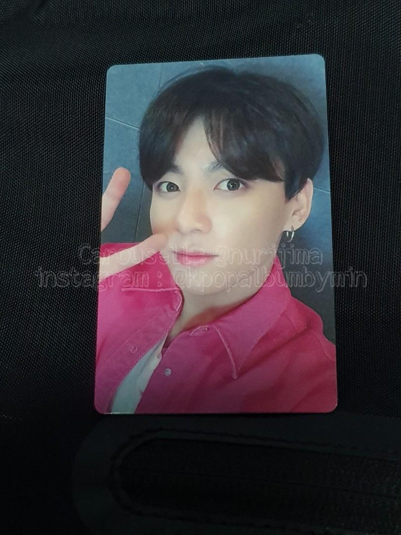 BTS JUNGKOOK photocard(lights/ boy with luv FC limited PC)