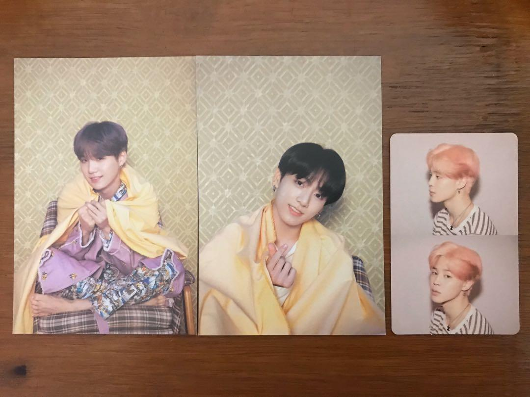 BTS MAP OF THE SOUL : PERSONA ver 1 PHOTOCARD+POSTCARD SET
