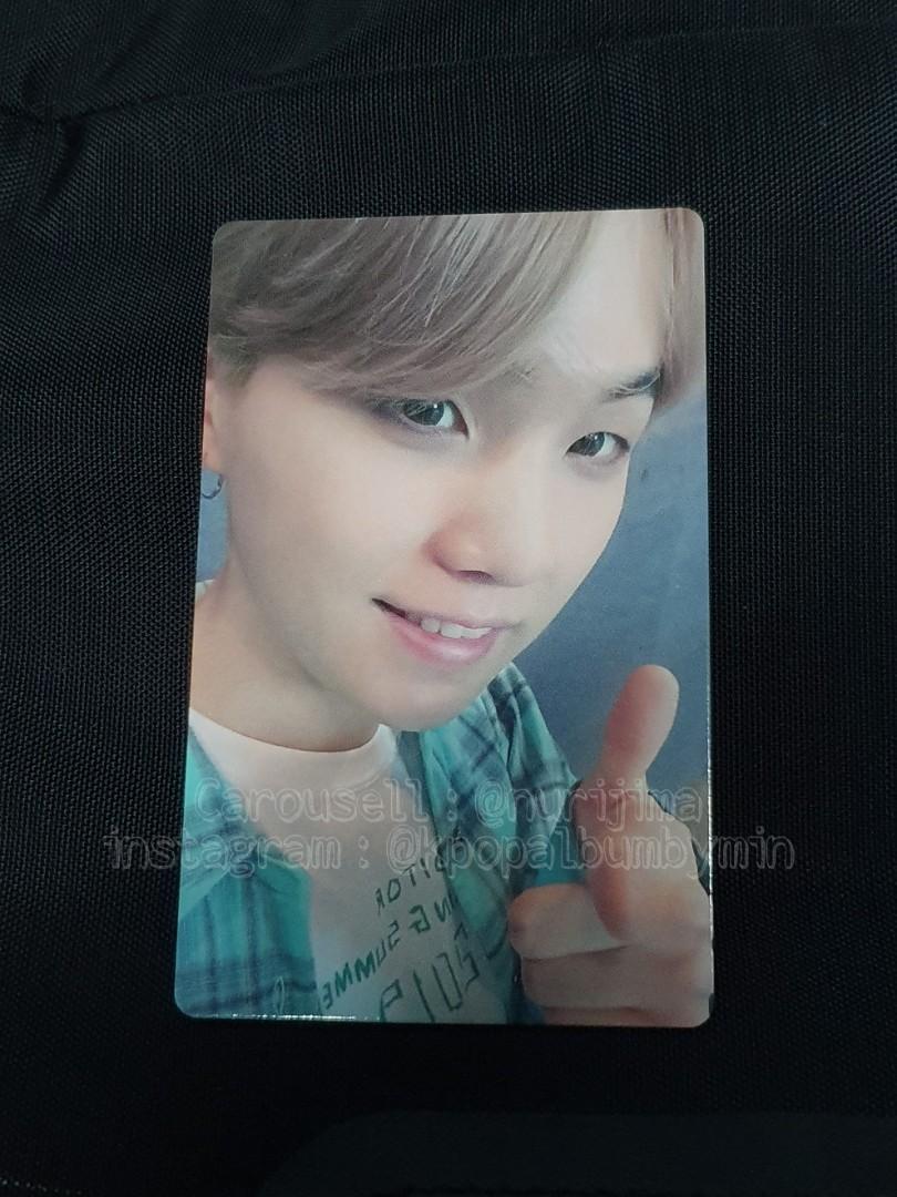 BTS Suga/Yoongi Photocard (lights/ Boy with luv FC limited PC)