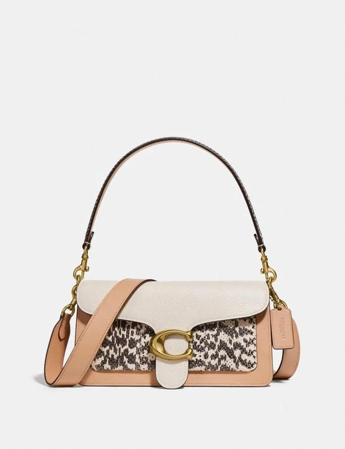 Coach Tabby Shoulder Bag with Snakeskin Details - Authentic USA outlet