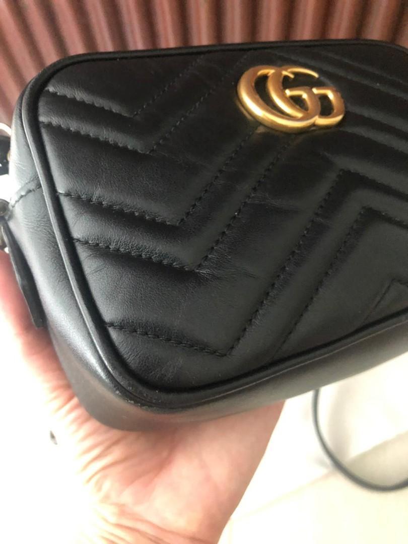 Gucci Marmont Authentic bahan full leather ada no seri fullset mulus dan Like New