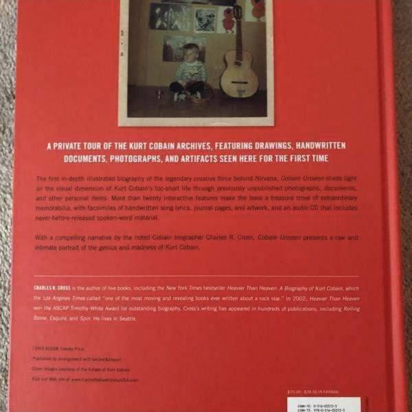 Kurt Cobain Unseen: like new condition (hard cover)