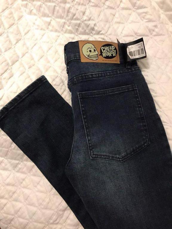 NEW Cheap Monday Straight-Leg Skinny Jeans Size 28
