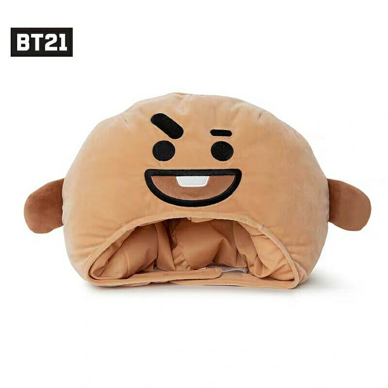 [PREORDER] BTS BT21 Character Plush Bighead Doll Hat