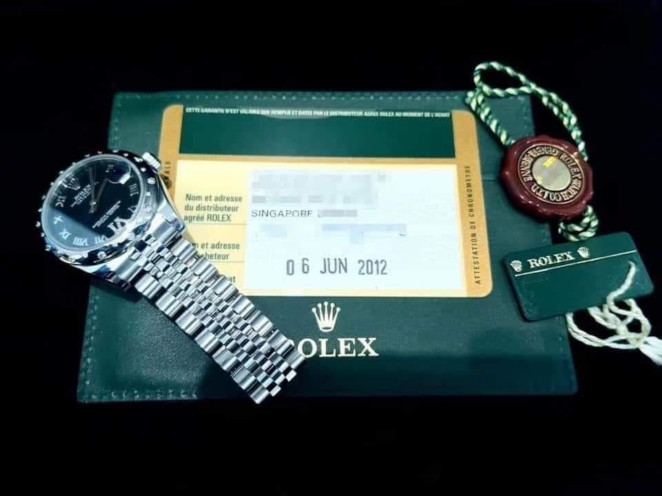 PREOWNED ROLEXDate just, 178344, White Rolesor, Oystersteel and White Gold, 31mm, Mid/Boy-size, G Series @ Year 2012 Ladies Watch