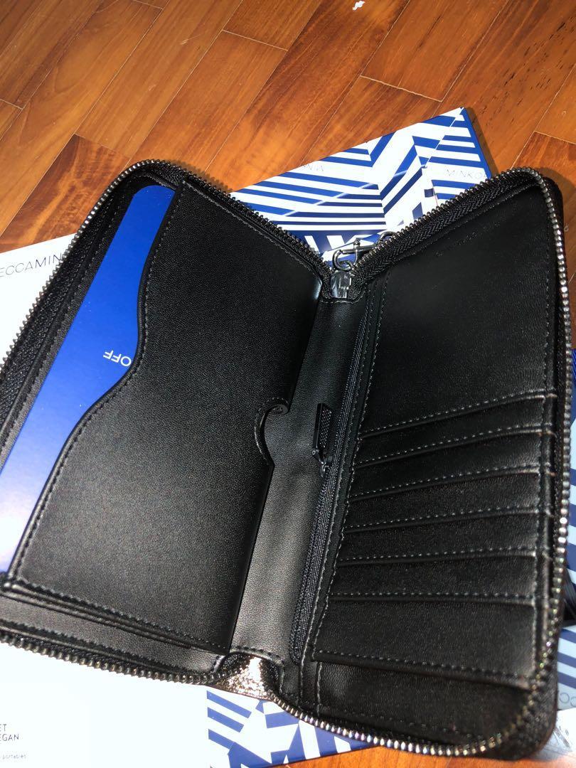 Rebecca Minkoff, Regan Universal Wristlet Case Designer Clutch Wristlet fits most Smartphones - Cracked Leather Anthracite