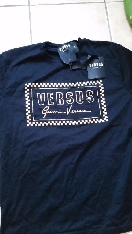 Versace VERSUS black t-shirt with gold print Women's XXL
