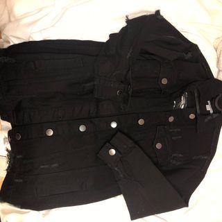 Fashion Nova Black Denim Jacket