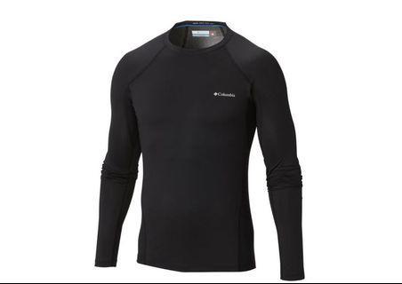 【Columbia 哥倫比亞】男款-Omni-HEAT鋁點保暖快排長袖上衣-黑色(UAM63230BK /發熱.運動.機能)