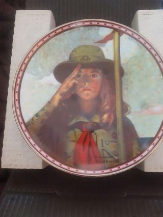 """Norman Rockwell """"On My Honor"""" Girl Scout Plate"""