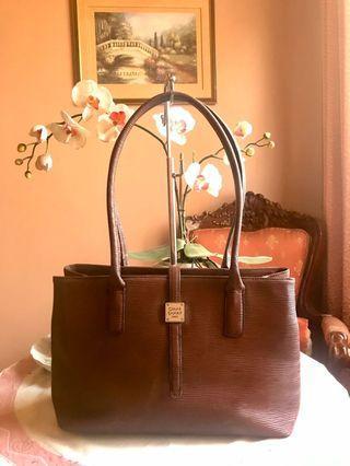 Omar Sharif Paris Leather Satchel Shoulder/Handbag