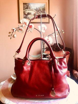 Original Sisley Genuine Leather 2-way Satchel Bag