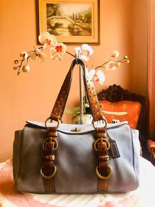 MARKDOWN SALE!!! Original Coach Chelsea 10139 Nubuck Genuine Leather Satchel Handbag