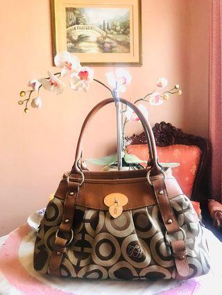 Sale!!! Aniary Jacquard and Saffiano leather-trim Satchel Handbag FREE SHIPPING!