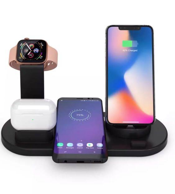 4 in 1 charger for Iphone, Apple watch, Airpod and wireless charging