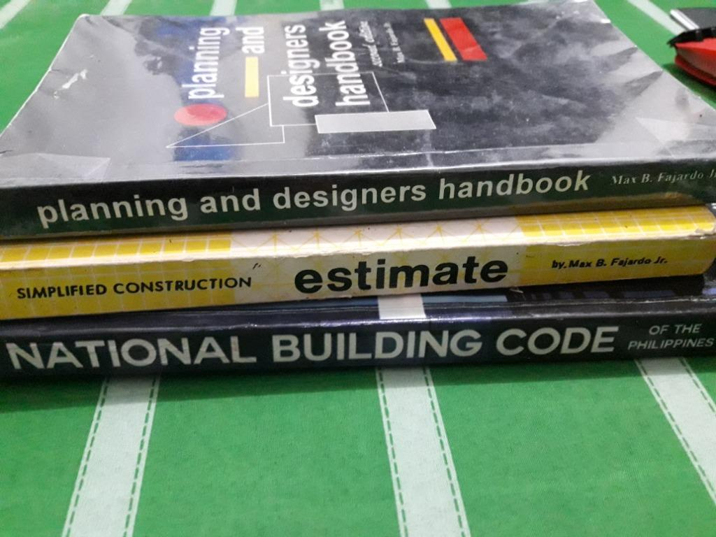 Arch. Reviewer books-Fajardo design books+fajardo's estimate book+nbc 2018