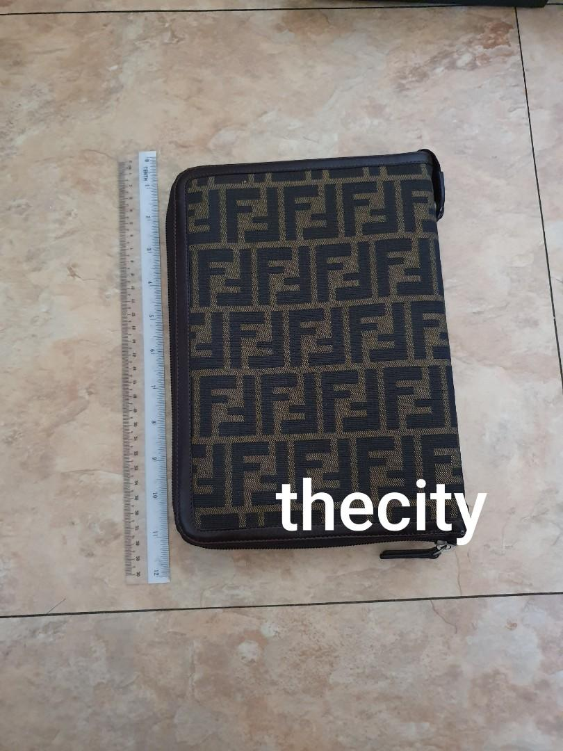 AUTHENTIC FENDI LARGE DIARY ORGANIZER - FF MONOGRAM LOGO CANVAS - KEPT UNUSED