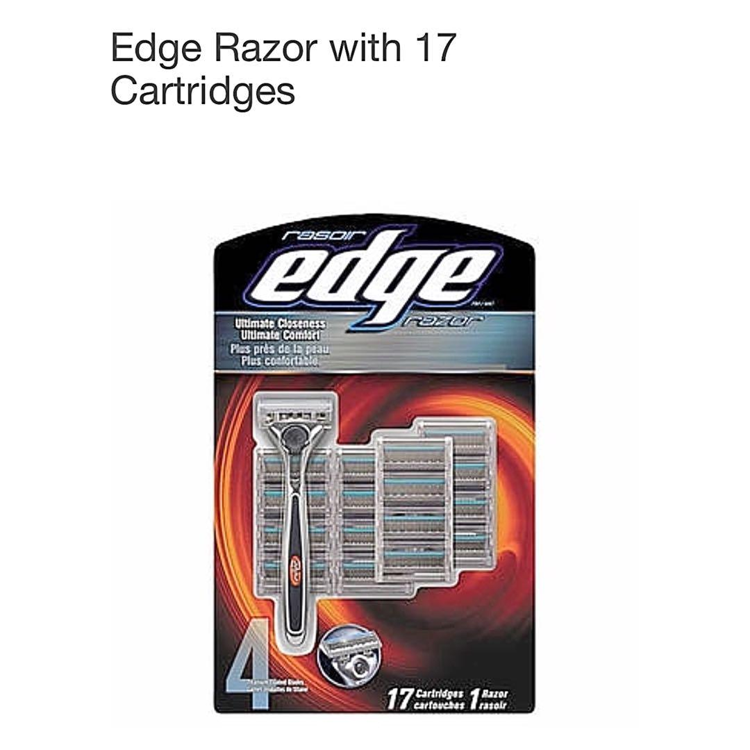 Brand new in packaging razor edge with 17 cartridges