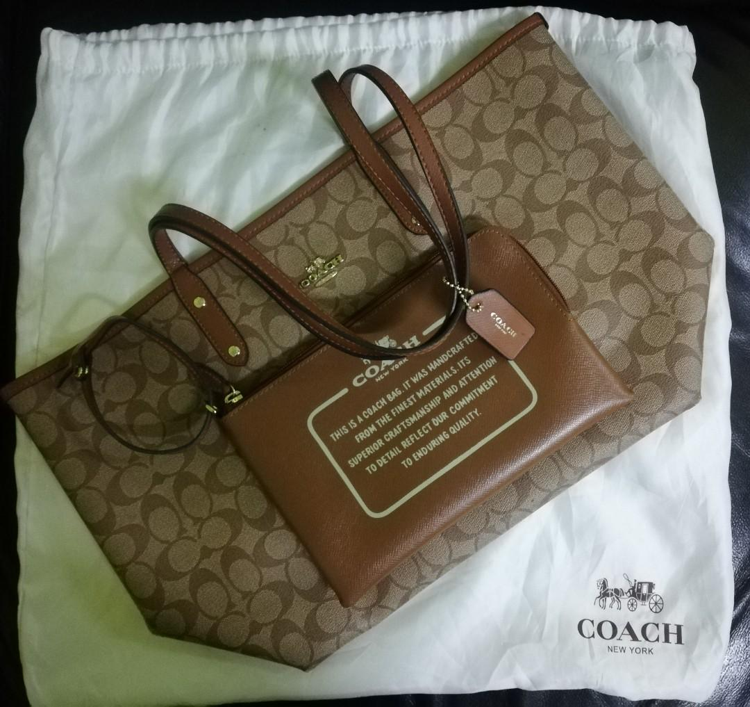 Coach Handbag Reversable /Hand bag murah / high gred bag/ hand bag wanita