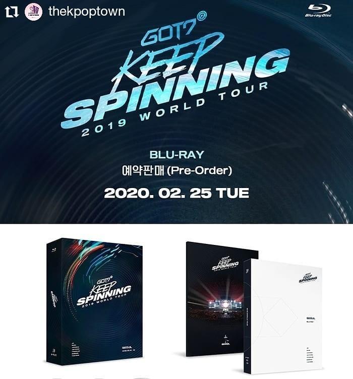 GOT7 2019 WORLD TOUR [KEEP SPINNING] BLU-RAY (3 DISC)