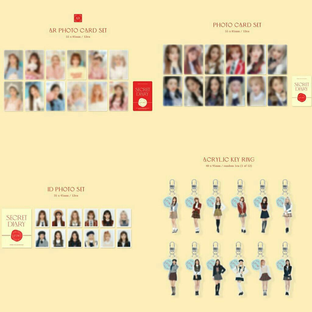 IZONE IZ*ONE - SPRING COLLECTION SECRET DIARY PHOTOBOOK PACKAGE