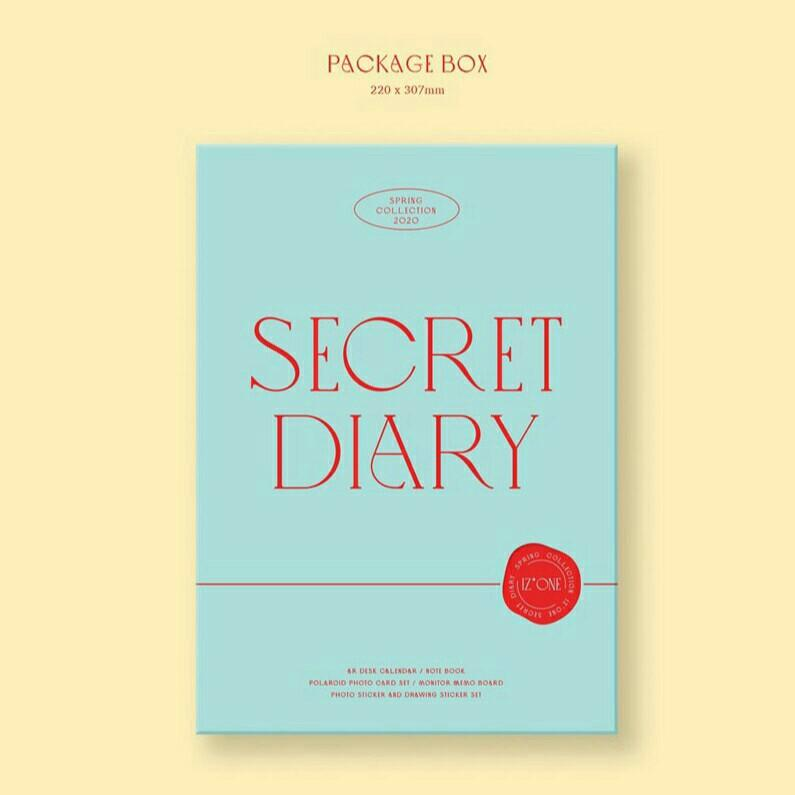 IZONE IZ*ONE SPRING COLLECTION SECRET DIARY (CALENDAR PACKAGE)