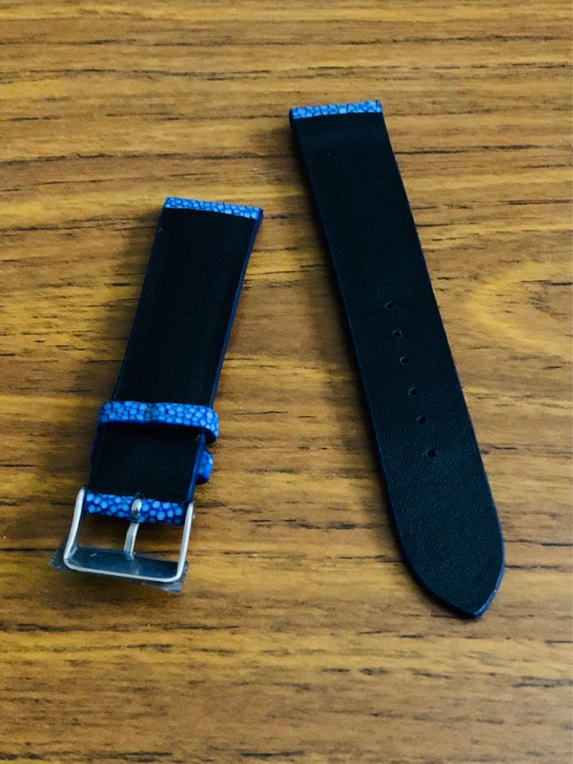20mm/18mm [DISCOUNTED] Authentic Ocean 🌊 Blue Stingray Watch Strap (last piece, never coming again 🙏🏻😊) (pls read listing)